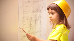 Child Constructor Architect Stock Footage