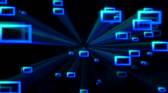 Blue Frames - Centered Zoom - stock footage