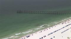 Beach Summer Fishing Pier Stock Footage