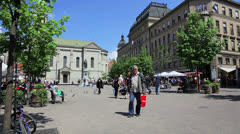 Floral square in the city center, Zagreb Stock Footage