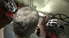 Film Splicing 04 OTS Stock Footage