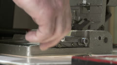Film Splicing CU 1 Stock Footage