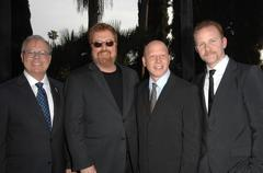 john shaffner, r.j. cutler, jonathan chinn and morgan spurlock.atas presents - stock photo