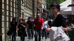 Zagreb, Bogoviceva street Stock Footage