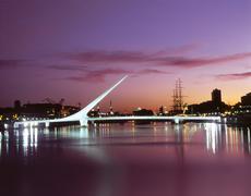Colrful bridge illuminated Argentina South America (82) Stock Photos