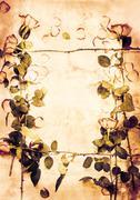 nostalgic autumn background - stock illustration