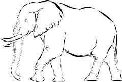 elephant icon - stock illustration