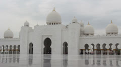 Sheikh Zayed Grand Mosque in Abu Dhabi (57) Stock Footage