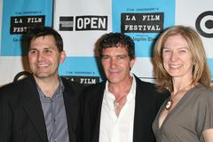 Fest director rich raddon,antonio banderas and film independent president daw Stock Photos