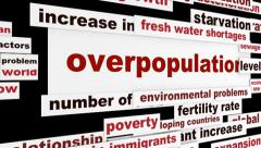 Overpopulation social issue concept Stock Footage