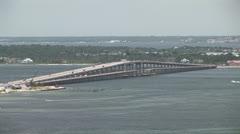 Bridge over water Stock Footage