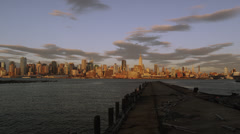 NYC Skyline Dock Stock Footage
