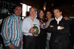 neal mcdonough, wife ruve robertson, esai morales damian chapa,.the 2009 vale - stock photo