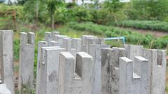 foundation pillar - stock photo