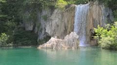 Waterfall in Plitvice National Park in Croatia - stock footage