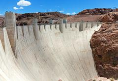 Hoover dam in sunny day Stock Photos