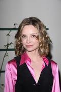 calista flockhart.vday santa monica's celebrity reading of the vagina monolog - stock photo