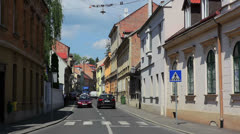 Zagreb upper old town Stock Footage