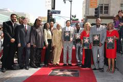 "Stock Photo of motown band ""the miracles"" receive the 2, 381st star on the hollywood walk of"