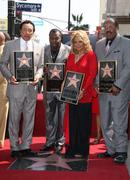 "Motown band ""the miracles"" receive the 2, 381st star on the hollywood walk of Stock Photos"