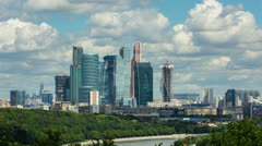 Moscow sky-scrapers & embarkment timelapse,RAW VIDEO: 4K & 1080p resolutions Stock Footage