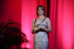 Jodie foster..2009 women in film crystal + lucy awards - show..held at hyatt Stock Photos