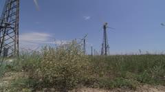 Dolly: Wind Turbine Farm Stock Footage