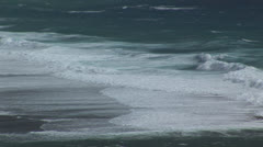 Shoreline waves breaking Stock Footage
