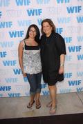 wif board member, iris grossman and niece alexa.12th annual women in film cel - stock photo