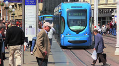Ban Jelacic Square, Zagreb - stock footage