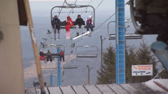 Ski Lift 4 - stock footage