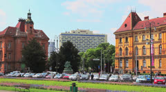Zagreb city center - stock footage