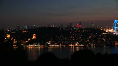 Blue time Fatih Sultan Mehmet Bridge 4 Stock Footage