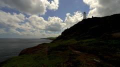 Cape Spear Lighthouse & Ocean Timelapse Stock Footage
