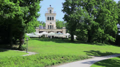 Maksimir park in Zagreb Stock Footage