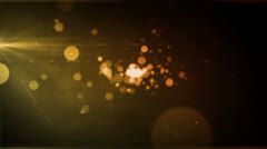 Particle Radiance Amber Orange Stock Footage
