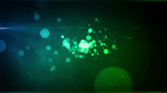 Particle Radiance Blue Green Stock Footage