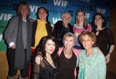 beau st.claire, producer liz garbus, mary ann bruni, emily and sarah kunstler - stock photo
