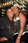 queen latifah, 'yoyo' aka yolanda whitaker.queen latifah's birthday party gre - stock photo