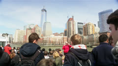 Construction of The New World Trade Center and Skyscrapers of Manhattan,New York Stock Footage