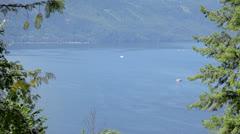 Houseboats on Shuswap Lake Stock Footage