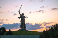 'the motherland calls!' monument in volgograd, russia - stock photo