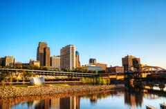 downtown of st. paul, mn - stock photo