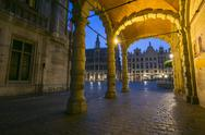 Stock Photo of grand place from brussels, belgium : night shot
