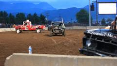 Truck Derby Roll Stock Footage