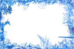 winter border - stock illustration