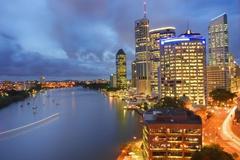 Brisbane city (australia) by night Stock Photos