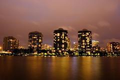 Buildings by night Stock Photos