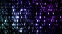 LED Grid Purple Blue - stock footage