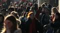 Crowd of people walking across Westminster Bridge - London, UK - 23 Footage